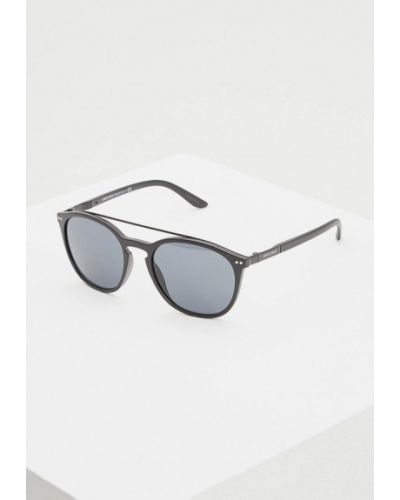 Солнцезащитные очки круглые черные Giorgio Armani