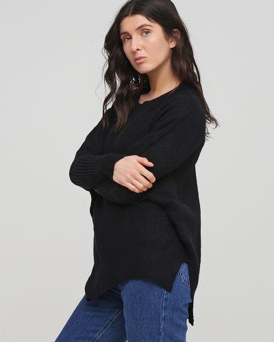 Свободный черный свитер свободного кроя Rozetka