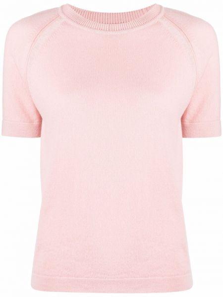 Różowa koszulka prążkowana Barrie