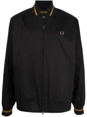 Черная длинная куртка Fred Perry