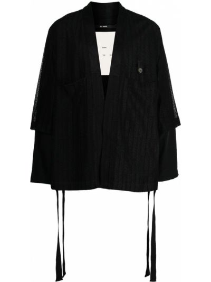Czarna długa kurtka bawełniana koronkowa Song For The Mute