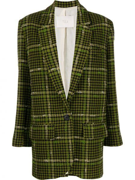Черный приталенный классический пиджак с карманами Tela