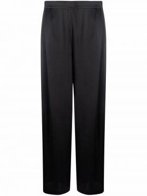 Приталенные черные широкие брюки с потайной застежкой Carine Gilson