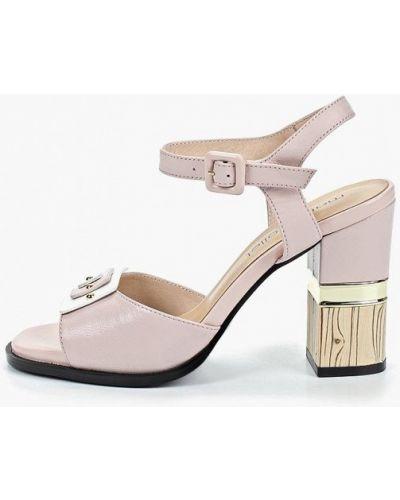 Босоножки на каблуке розовый Marie Collet