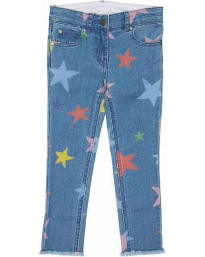 Хлопковые джинсы на молнии Stella Mccartney Kids