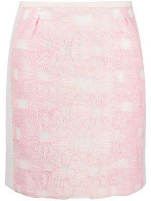 Różowy spódnica mini z kieszeniami z haftem Comme Des Garçons Tricot