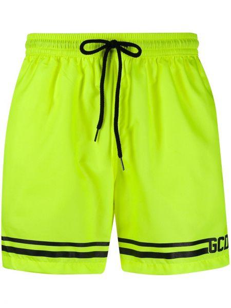 Желтые короткие шорты с карманами Gcds