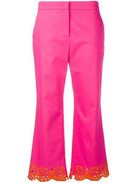 Розовые с завышенной талией укороченные брюки с карманами Emilio Pucci