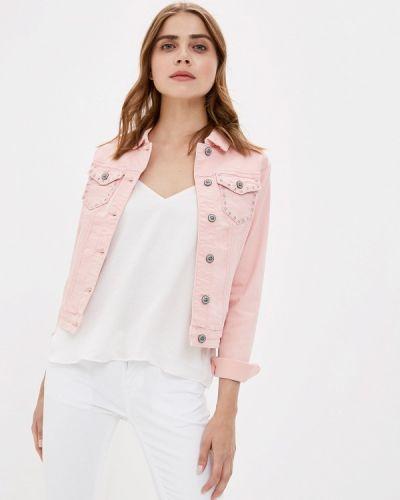 Джинсовая куртка весенняя розовая Blue Monkey