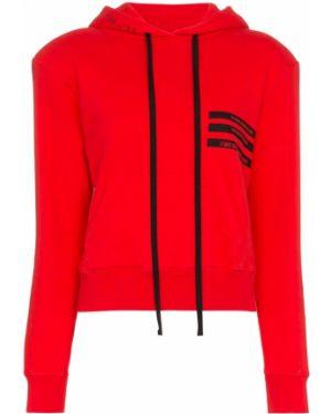 Красная кофта с капюшоном Unravel Project