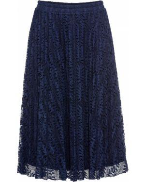 Плиссированная юбка на резинке макси Bonprix