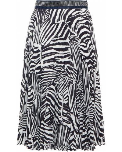 Вязаная плиссированная черная юбка Missoni