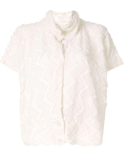 Блузка с коротким рукавом с воротником-стойкой батник Issey Miyake Cauliflower