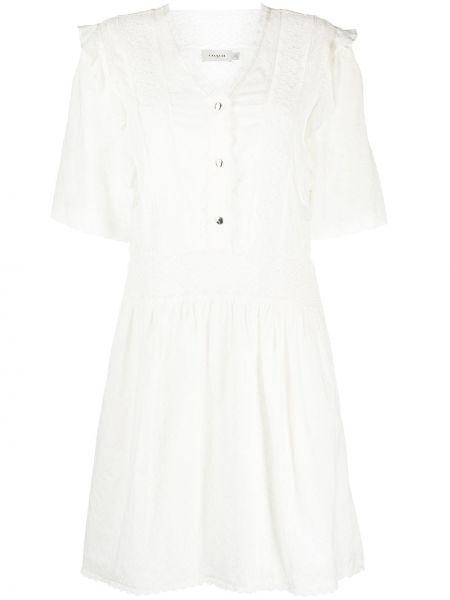 Кружевное платье мини - белое Coach