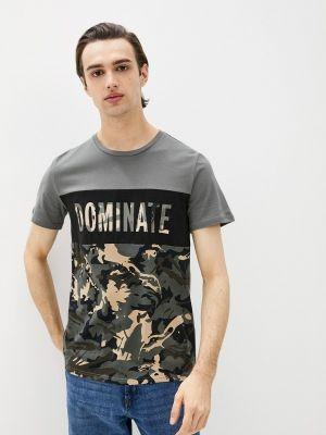 Серая футболка с короткими рукавами Begood