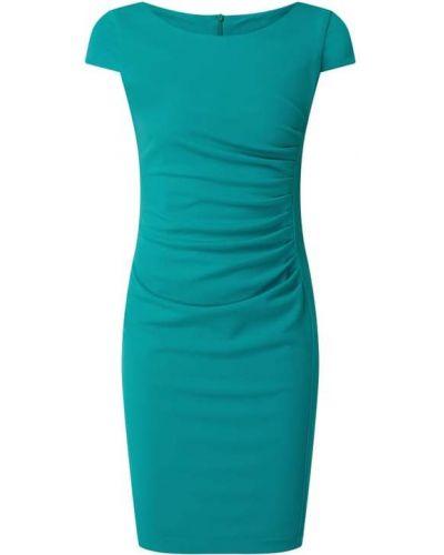 Zielona sukienka mini krótki rękaw Paradi