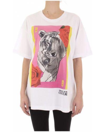 T-shirt oversize krótki rękaw z printem Versace Jeans Couture