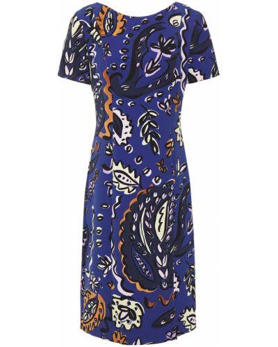 Платье с разрезом - синее Paul Smith