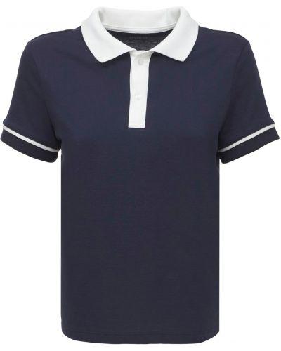 Синяя трикотажная рубашка Splits59