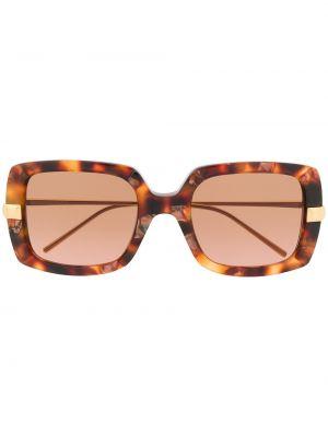 Коричневые прямые солнцезащитные очки квадратные металлические Boucheron Eyewear