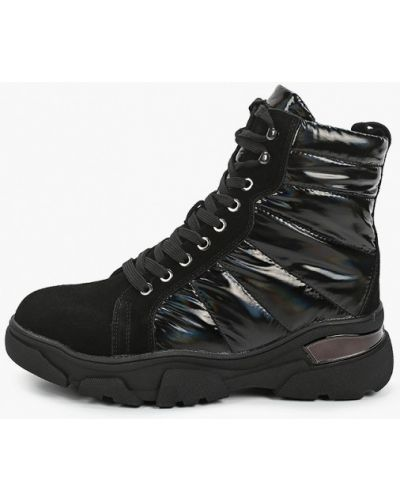 Текстильные черные ботинки Escan