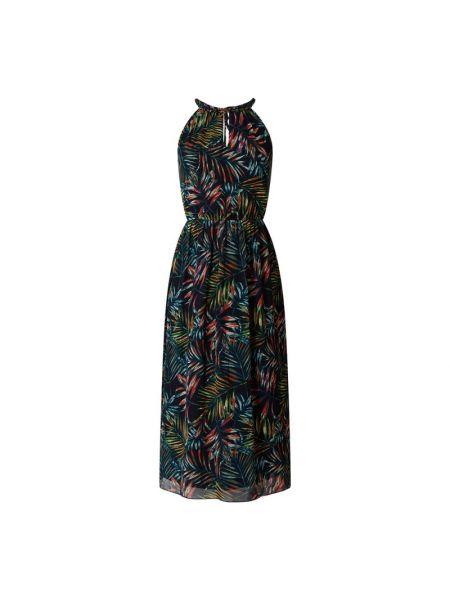 Niebieska sukienka rozkloszowana z szyfonu Apricot