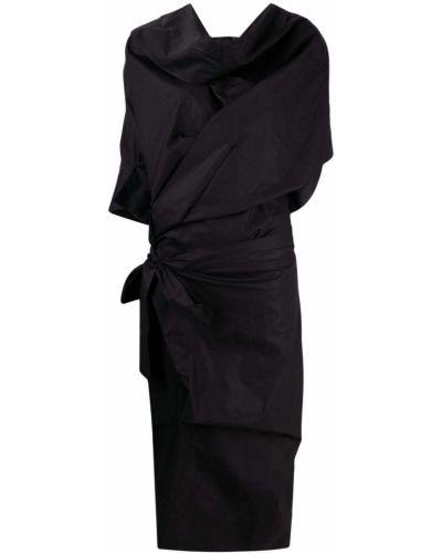 Хлопковое черное платье с драпировкой Vivienne Westwood