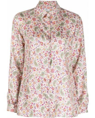 Прямая шелковая классическая рубашка с воротником Etro
