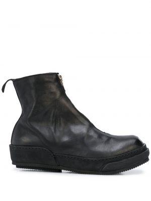 Buty skórzane plac czarne Guidi