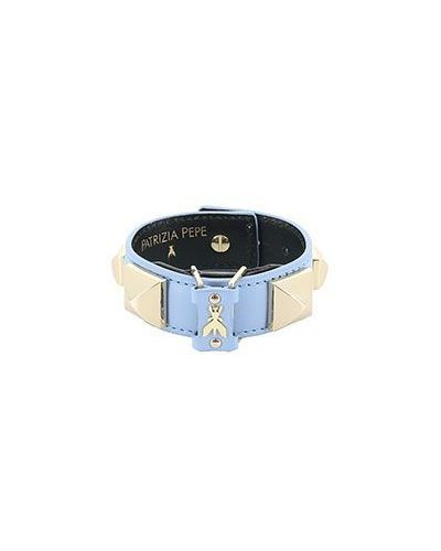 Голубой кожаный браслет Patrizia Pepe
