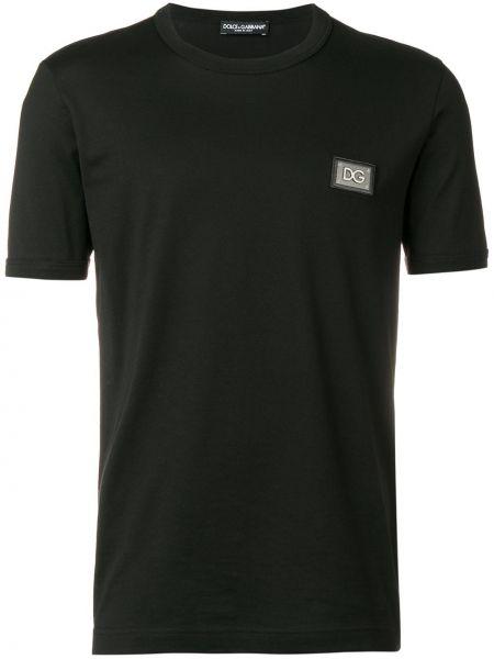Koszula krótkie z krótkim rękawem klasyczna z logo Dolce And Gabbana