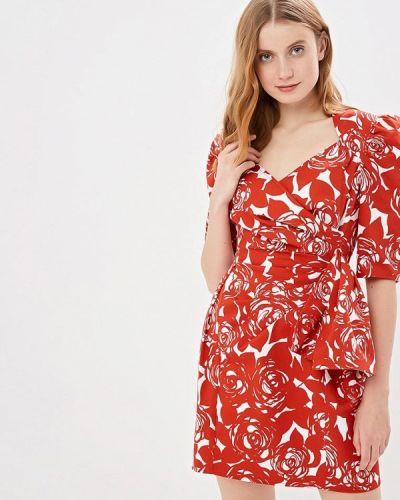 Платье футляр красный Белка