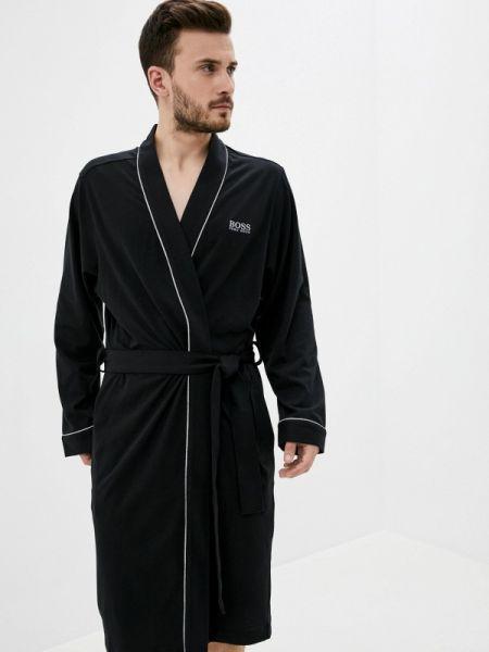 Домашний черный халат Boss