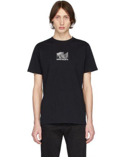 Koszula krótkie z krótkim rękawem z kołnierzem z nadrukiem Norse Projects