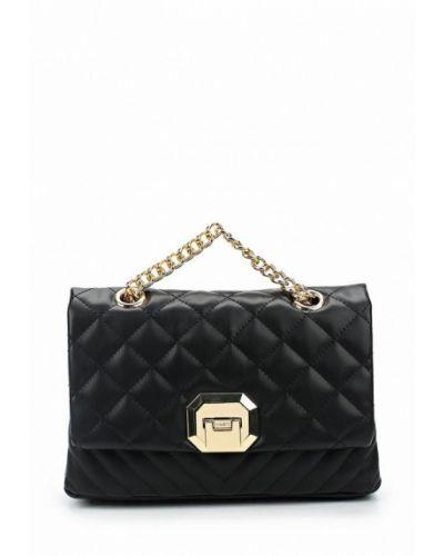 Кожаный сумка черная из искусственной кожи Aldo