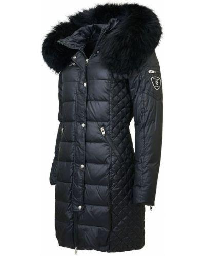 Czarny płaszcz z kapturem Rockandblue