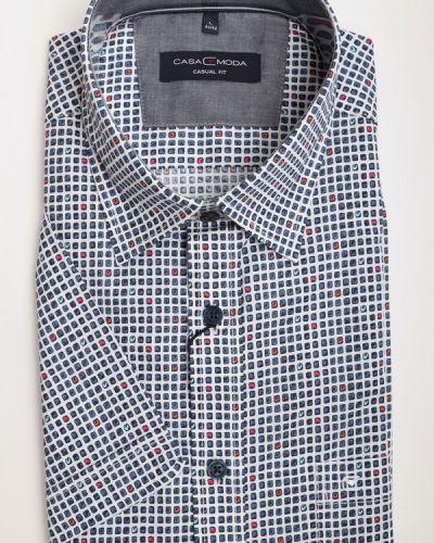 Хлопковая рубашка с коротким рукавом Casa Moda