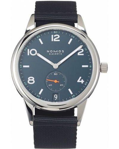 Часы с ремешком - синие Nomos Glashütte