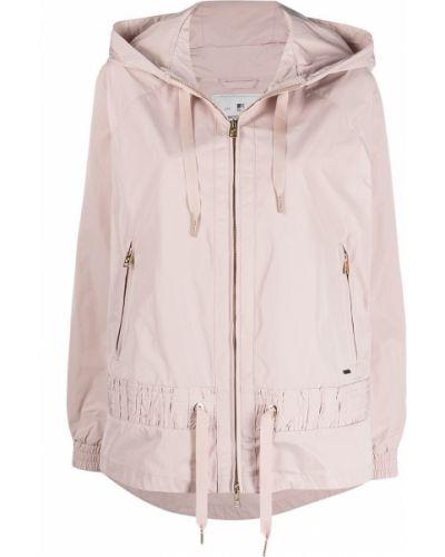 Розовая куртка с капюшоном на молнии Woolrich
