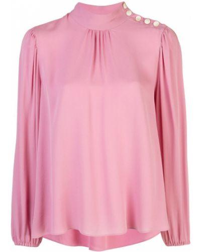 Свободная розовая блузка с длинным рукавом с оборками с манжетами Robert Rodriguez Studio