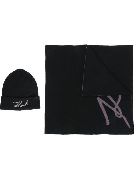 Шапка бини - черная Karl Lagerfeld