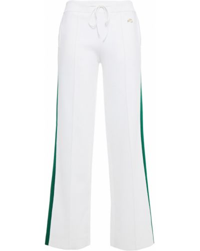 Прямые белые брюки в полоску Bella Freud
