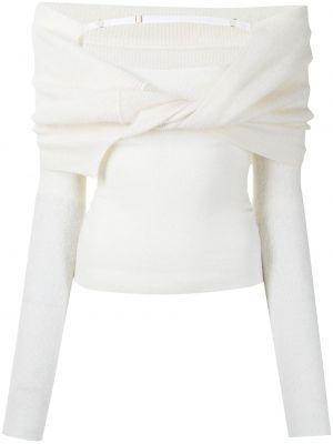 Белый трикотажный свитер Jacquemus