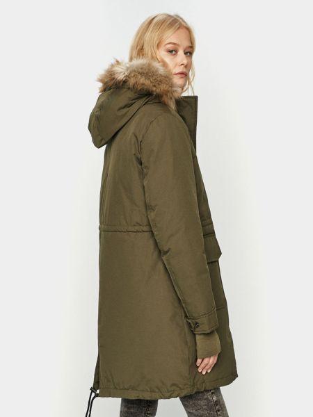 Длинная куртка с капюшоном из искусственного меха на молнии Wrangler