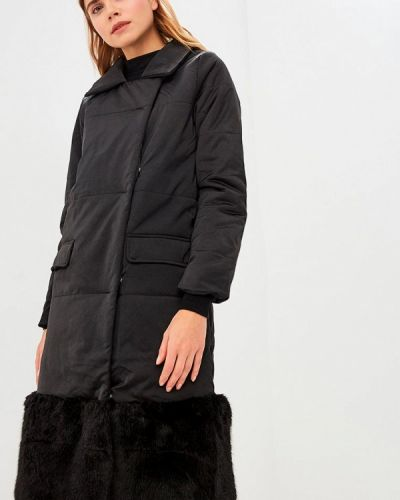 Утепленная куртка демисезонная черная Lost Ink.