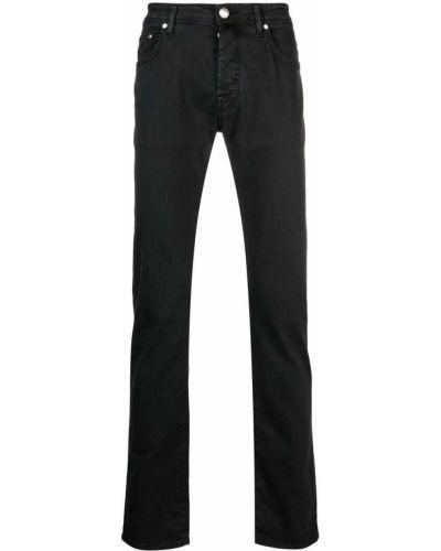 Черные прямые джинсы на молнии Jacob Cohen