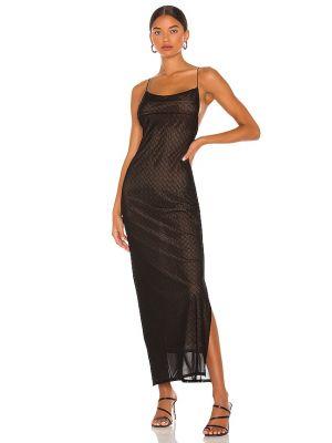 Czarna sukienka z siateczką Miaou