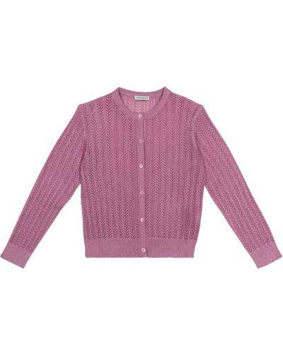 Różowy kardigan z wiskozy Dolce & Gabbana Kids