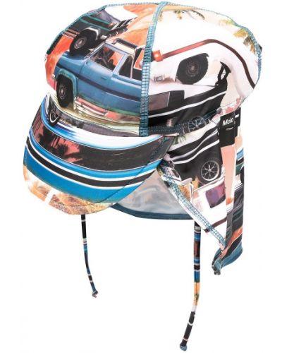 Niebieska czapka z printem Molo