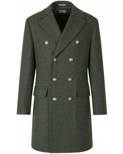 Zielony płaszcz dwurzędowy Brunello Cucinelli